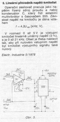 Schéma: Digitálny prevodník teplota/frekvencia