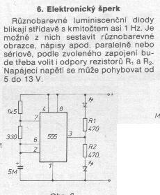 Schéma: Elektronický šperk