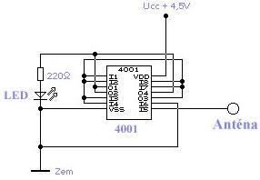 Schéma: Indikátor elektrostatického poľa