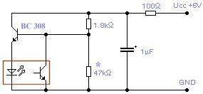 Schéma: Oscilátor s optočlenom