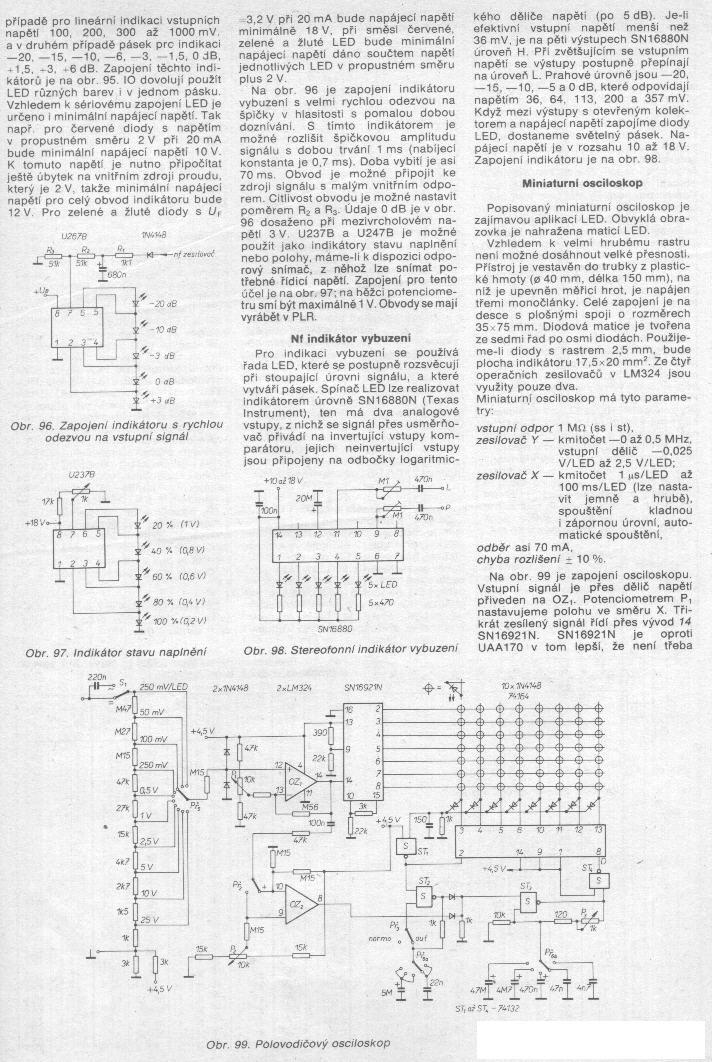 Schéma: Osciloskop z LED