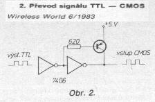 Schéma: Prevodník z TTL na CMOS signál
